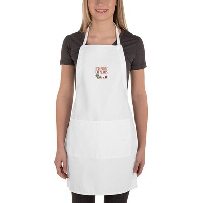 Real People Eat Plants Embroidered Apron All Veggies