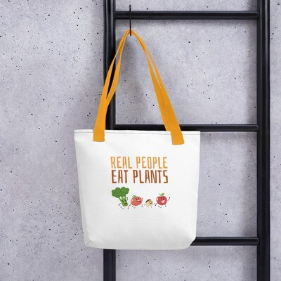 Real People Eat Plants Tote bag All Veggies