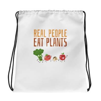 Real People Eat Plants Drawstring bag All Veggies