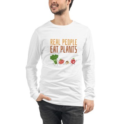 Real People Eat Plants Unisex Long Sleeve Tee All Veggies
