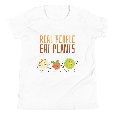 Real People Eat Plants Youth Short Sleeve T-Shirt All Fruit