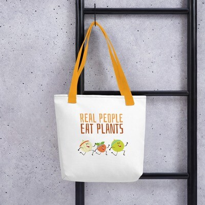 Real People Eat Plants Tote bag All Fruit