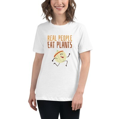 Real People Eat Plants Women's Relaxed T-Shirt Cantaloupe