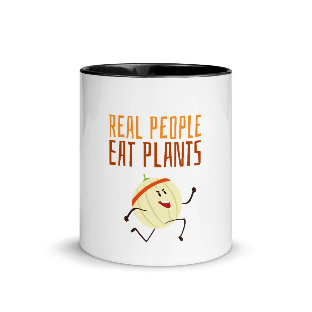 Real people Eat Plants Mug with Color Inside Cantaloupe