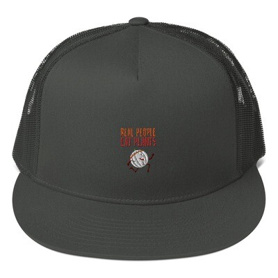 Real People Eat Plants Mesh Back Snapback Cantaloupe
