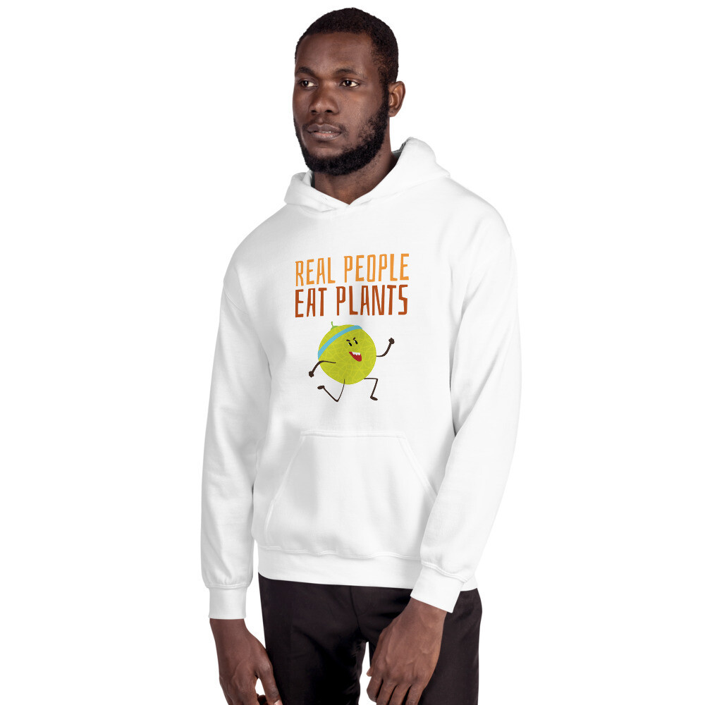 Real People Eat Plants Unisex Hoodie Muskmelon