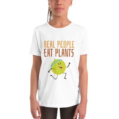 Real People Eat Plants Youth Short Sleeve T-Shirt Muskmelon