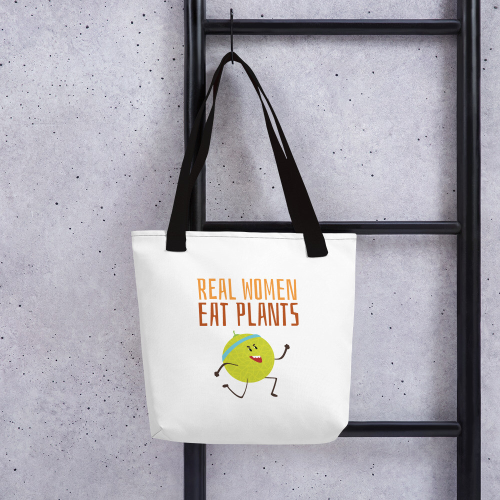 Real Women Eat Plants Tote Bag Muskmelon