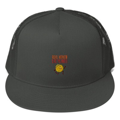 Real Women Eat Plants Mesh Back Snapback Muskmelon