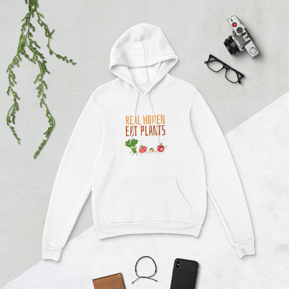 Real Women Eat Plants  Unisex hoodie All Veggies