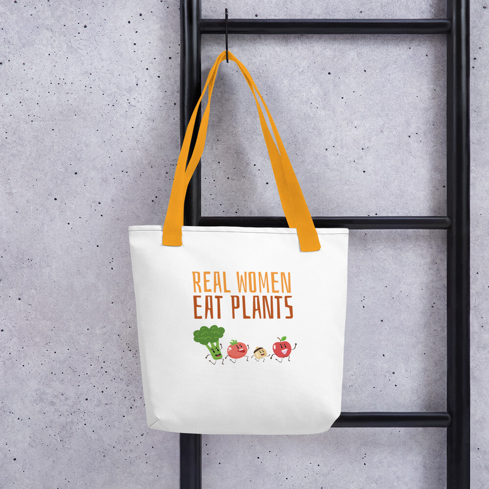 Real Women Eat Plants  Tote bag All Veggies
