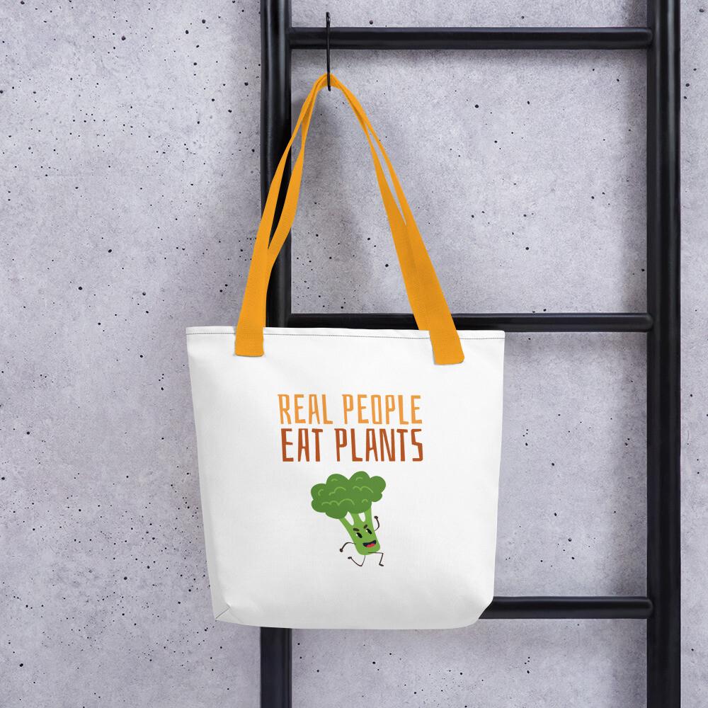 Real People Eat Plants  Tote bag Broccoli