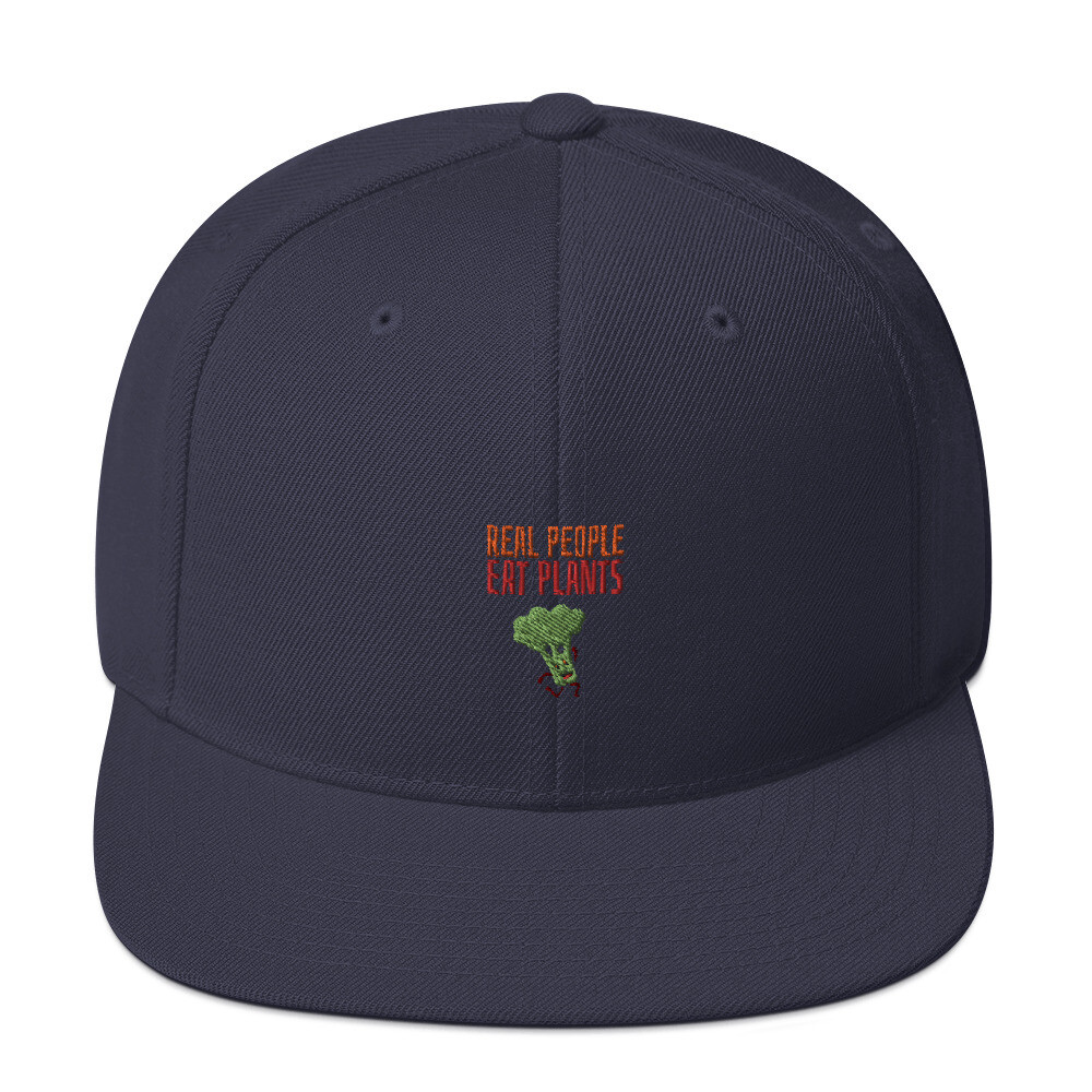 Real People Eat Plants  Snapback Hat Broccoli