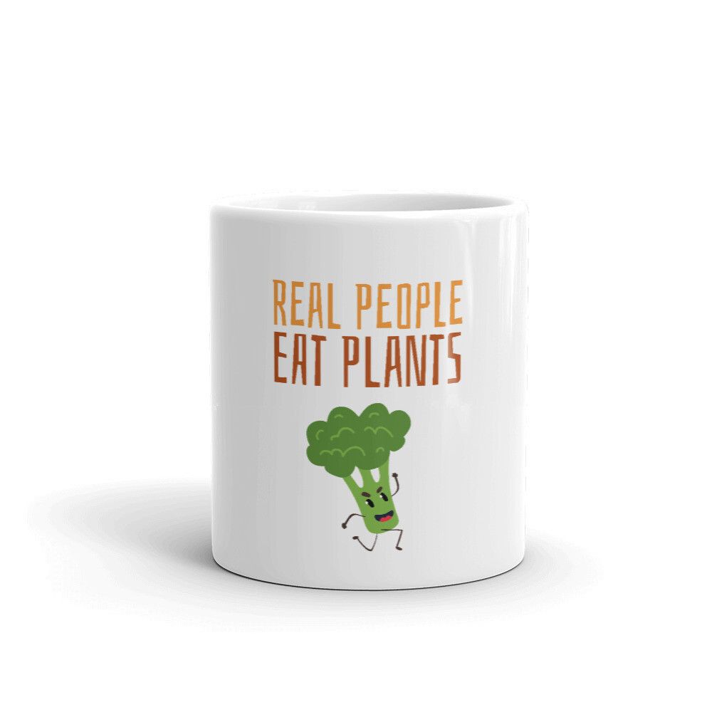 Real People Eat Plants  Glossy Mug Broccoli
