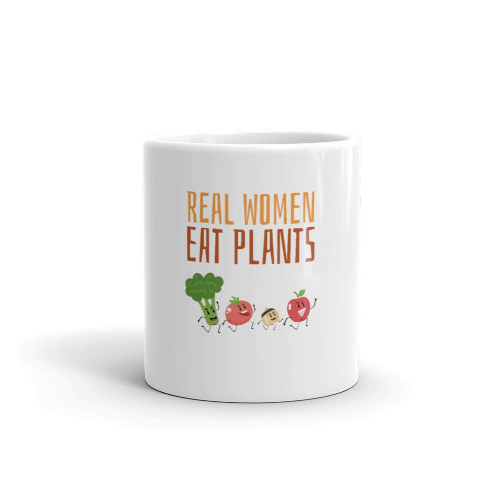 Real Women Eat Plants Glossy Mug All Veggies