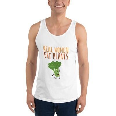 Real Women Eat Plants Unisex Tank Top Broccoli