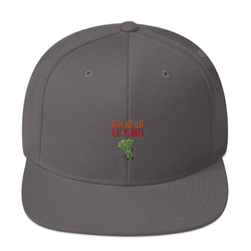 Real Women Eat Plants Snapback Hat Broccoli