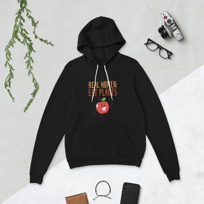 Real Women Eat Plants Unisex hoodie Apple