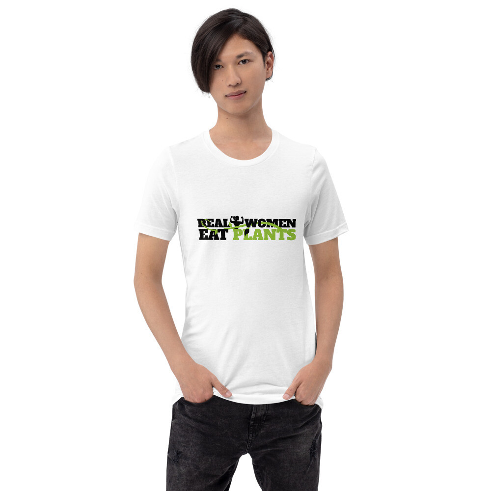 Real Women Eat Plants Short-Sleeve Unisex T-Shirt Logo