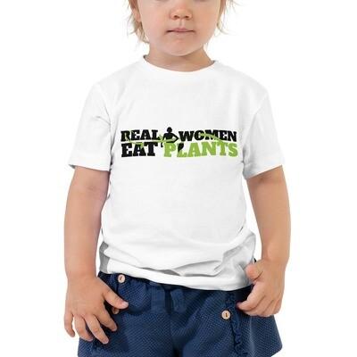 Real Women Eat Plants  Toddler Short Sleeve Tee Logo