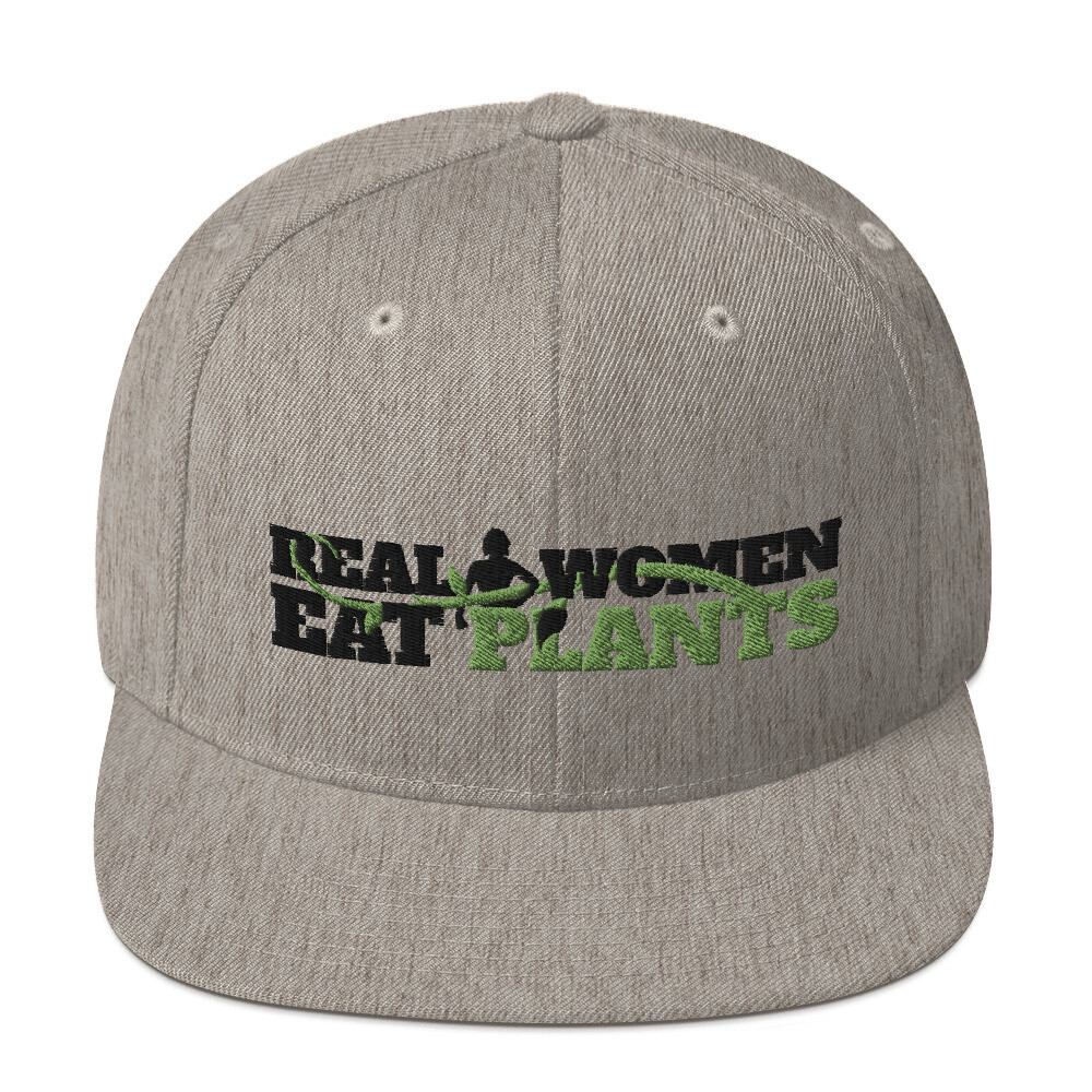 Real Women Eat Plants  Snapback Hat Logo