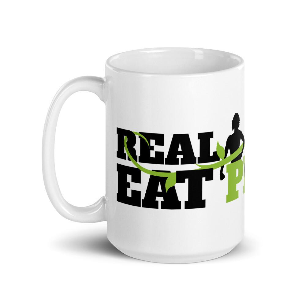 Real Women Eat Plants  Glossy Mug Logo