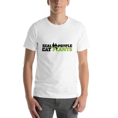 Real People Eat Plants  Short-Sleeve Unisex T-Shirt Logo