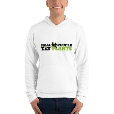 Real People Eat Plants Unisex hoodie Logo