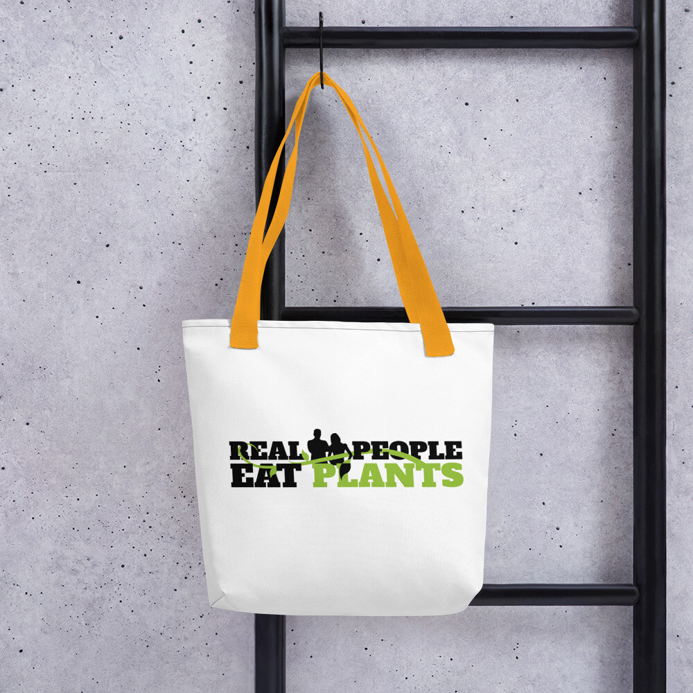 Real People Eat Plants Tote bag Logo