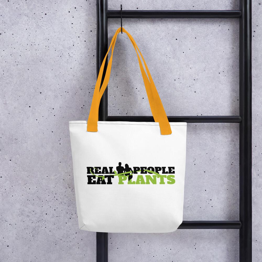 Real People Eat Plants Tote Bag