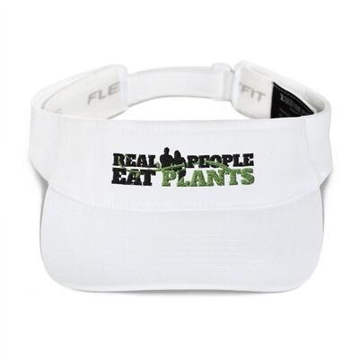 Real People Eat Plants Visor hat Logo