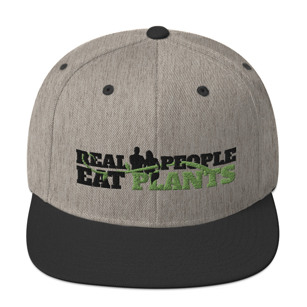 Real People Eat Plants Snapback Hat Logo