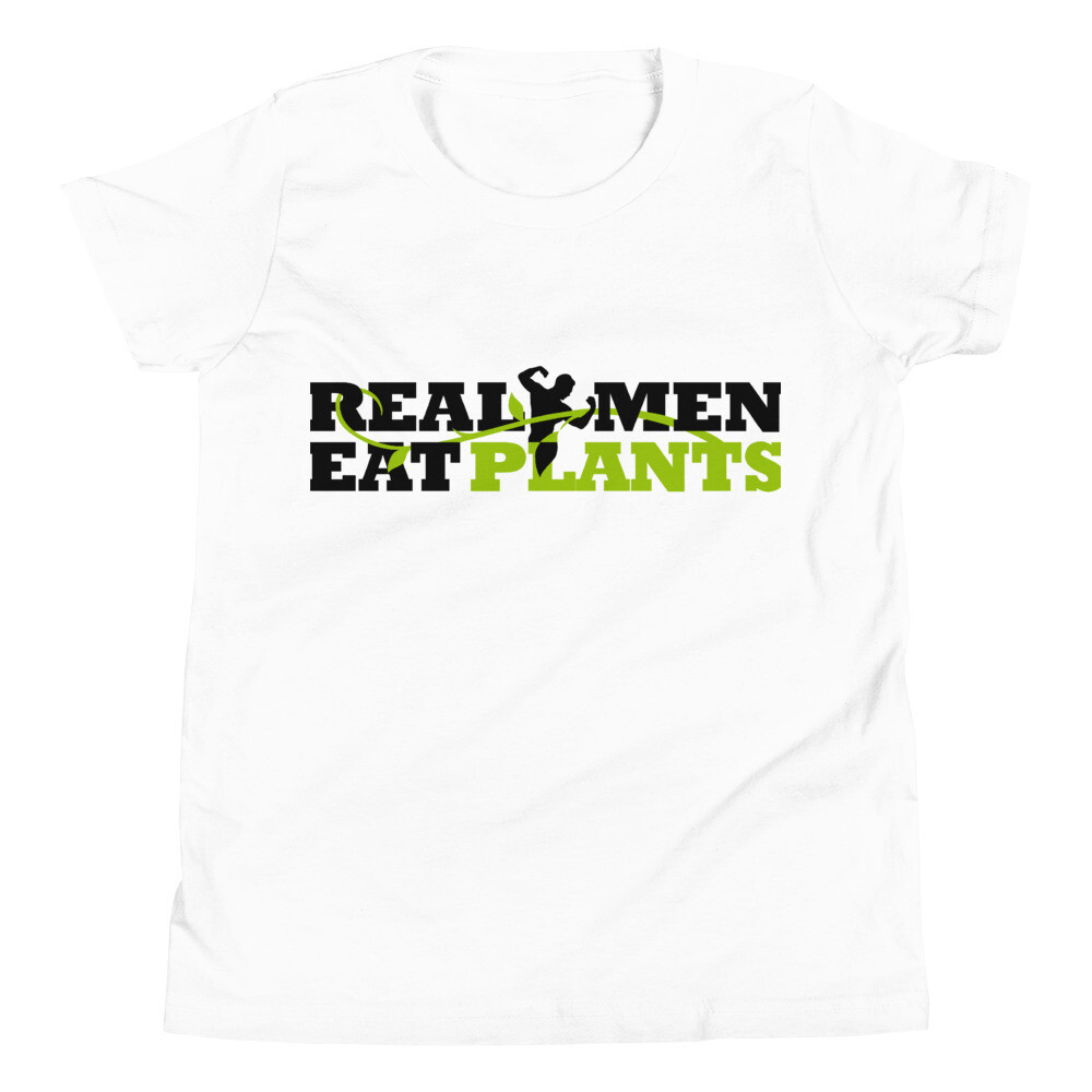 Real Men Eat Plants Youth Short Sleeve T-Shirt