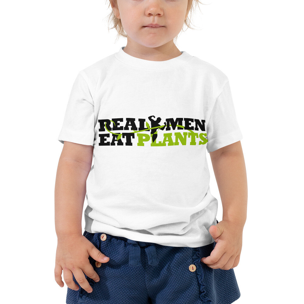 Real Men Eat Plants  Toddler Short Sleeve Tee Logo