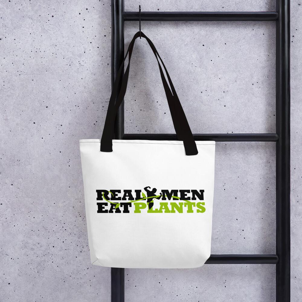 Real Men Eat Plants Tote bag Logo