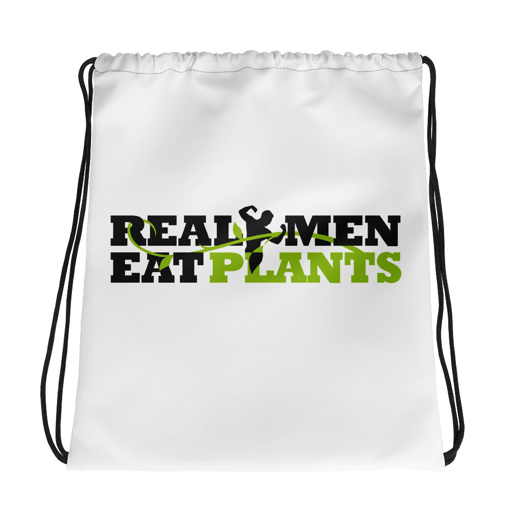 Real Men Eat Plants  Drawstring bag Logo