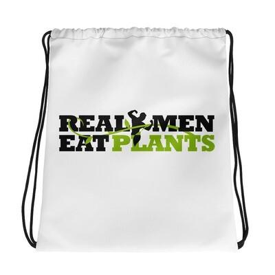Real Men Eat Plants  Drawstring bag Logo