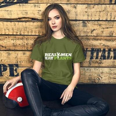 Real Men Eat Plants Short-Sleeve Unisex T-Shirt
