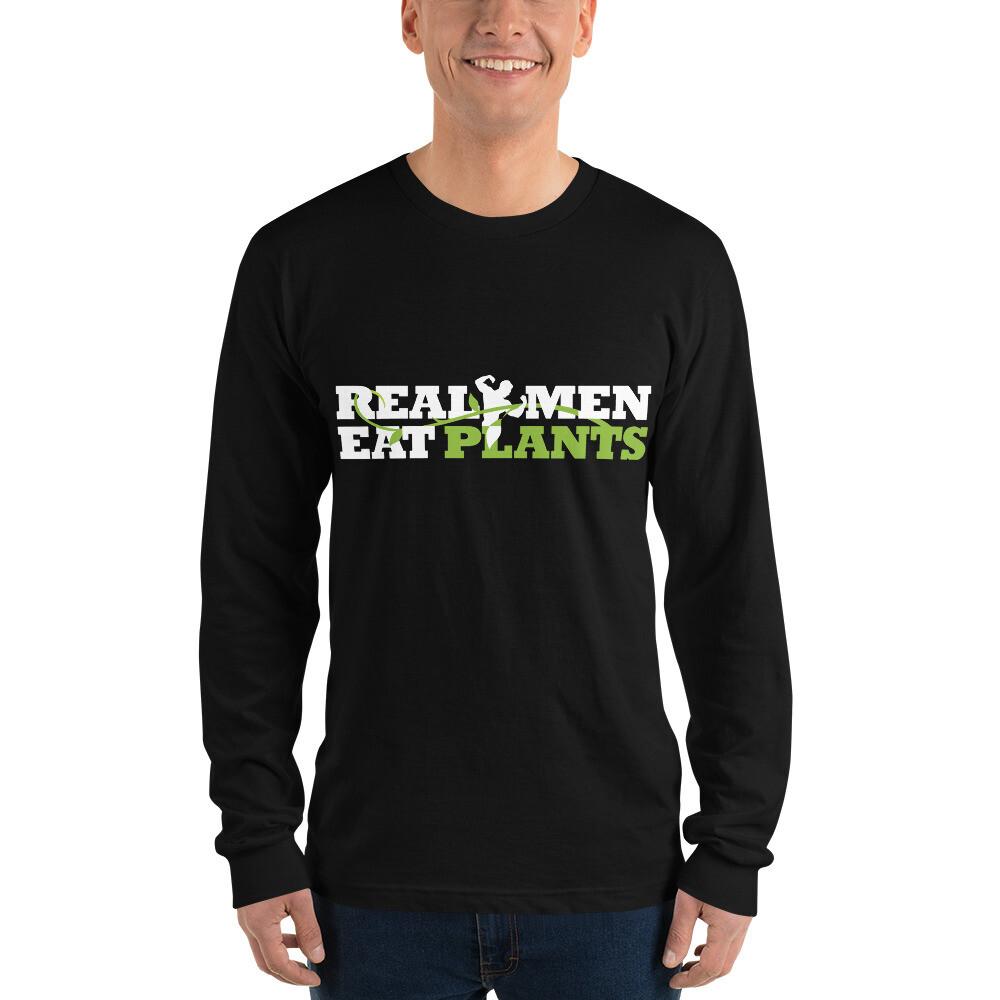 Real Men Eat Plants Long sleeve t-shirt Logo