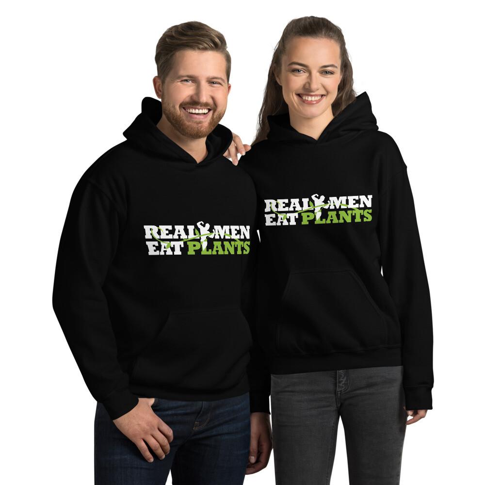 Real Men Eat Plants Unisex Hoodie Logo