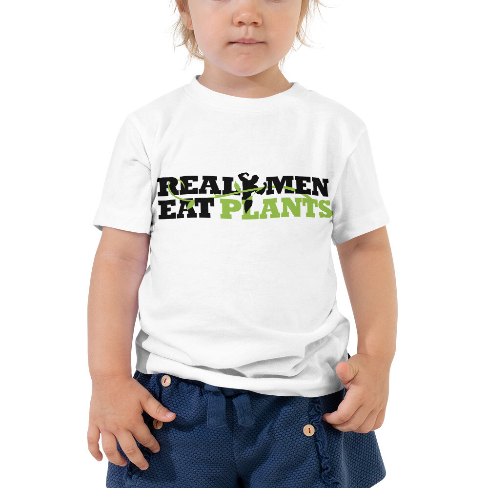 Real Men Eat Plants Toddler Short Sleeve Tee with Inside Logo