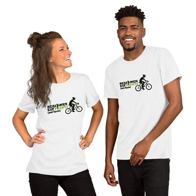 Real Men Eat Plants and Cycle Short-Sleeve Unisex T-Shirt with Inside Logo