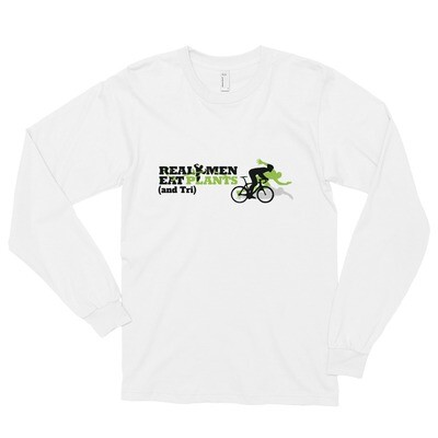 Real Men Eat Plants and Tri Long sleeve t-shirt Logo with Outside Logo