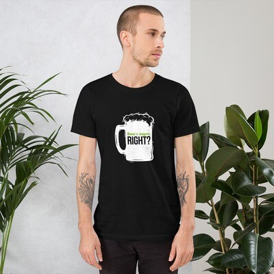 Real Men Eat Plants Statement Short-Sleeve Unisex T-Shirt with Outside Logo