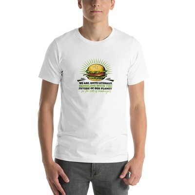 Real Men Eat Plants Statement Short-Sleeve Unisex T-Shirt with Inside Logo