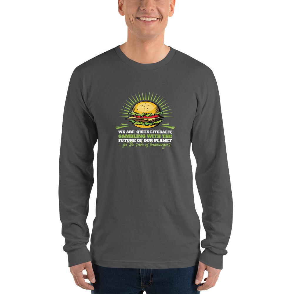 Real Men Eat Plants Long sleeve t-shirt with Outside Logo