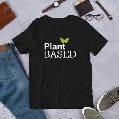 Real Men Eat Plants Statement Shirt- Plant Based Short-Sleeve Unisex T-Shirt