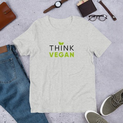 Real Men Eat Plants Statement Shirt Think Vegan Short-Sleeve Unisex T-Shirt