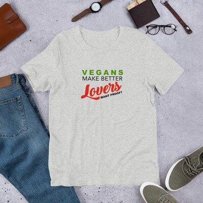 Real Men Eat Plants Statement Shirt Vegans Make Better Lover Short-Sleeve Unisex T-Shirt
