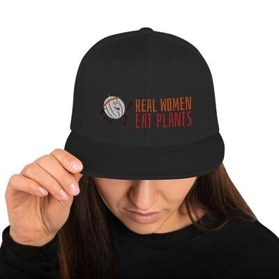 Real Women Eat Plants Cantaloupe Snapback Hat